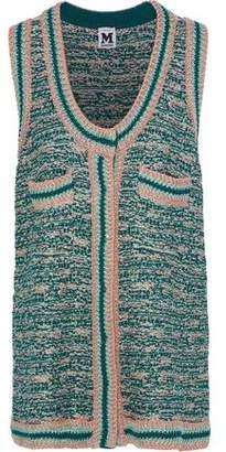 M Missoni Metallic Crochet-Knit Vest