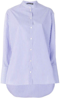 Alexander McQueen striped grandad shirt