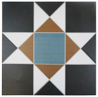 EliteTile SAMPLE - Narcisso Nouveau Ceramic Glazed Tile in Multicolor