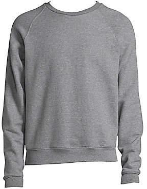 John Elliott Men's Raglan Crew Cotton Sweater