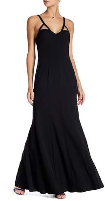 Vera Wang Sleeveless Fitted Gown