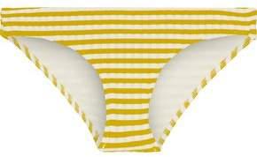 Solid & Striped The Elle Striped Ribbed Low-Rise Bikini Briefs