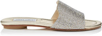 Jimmy Choo NANDA Suede Slides with Hotfixed Crystals