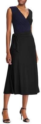 Ralph Lauren Self-Tie Jersey Midi Dress