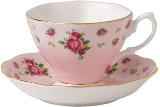 Royal Albert New Country Roses Pink Teacup and Saucer