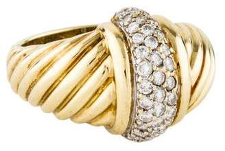 David Yurman 14K Diamond Cable Ring