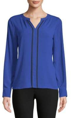 Calvin Klein Split Piped Blouse
