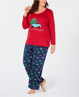 Matching Family Pajamas Plus Size Women's Are We There Yet Pajama Set