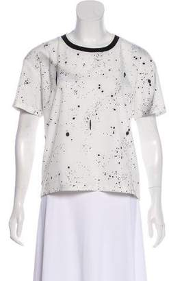 Opening Ceremony Abstract Short Sleeve Top