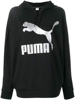 Puma logo printed hoodie
