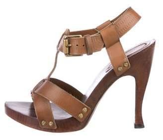 Bottega Veneta Leather T-Strap Sandals