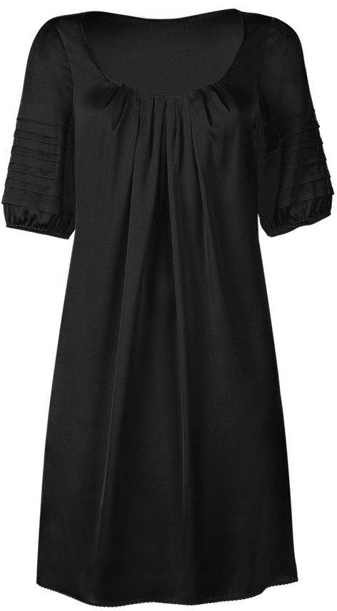 Steffen Schraut Black Shortsleeve Silk Tunic-Dress