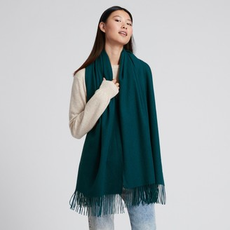 Naadam Cashmere Solid Scarf Forest Green