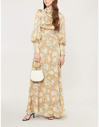 Zimmermann Cowl-neck silk maxi dress