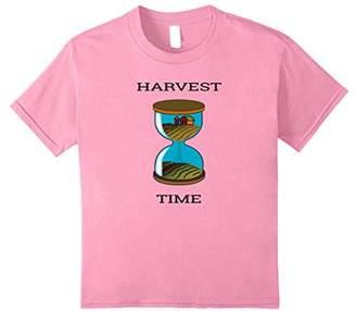 Hourglass Harvest Time- Funny Farming Barn T-Shirt