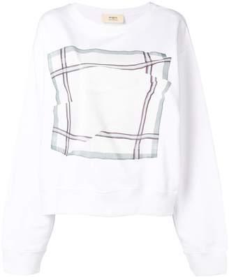 Ports 1961 checked print sweatshirt