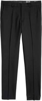 H&M Wool Suit Pants Skinny fit - Black