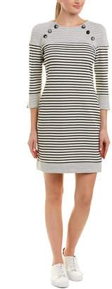 Three Dots Striped Sheath Dress