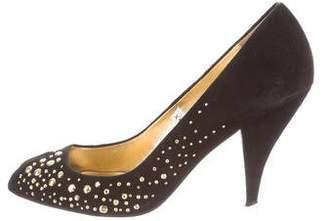 Sigerson Morrison Embellished Peep-Toe Pumps