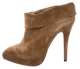 Max Studio Suede Platform Ankle Boots