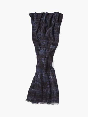 John Varvatos Abstract Patterned Scarf