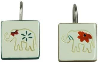 Bacova Boho Elephant Shower Curtain Hooks