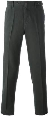 Pt01 pleated straight leg trousers
