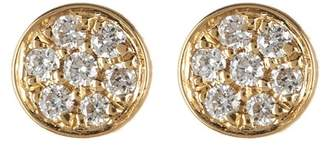 Bony Levy 18K Yellow Gold Pave Diamond Round Stud Earrings - 0.03 ctw