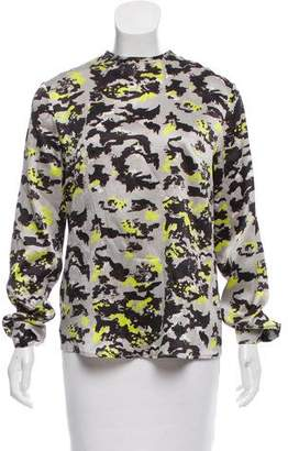 Michael Van Der Ham Printed Silk Top
