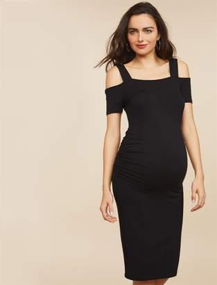 Motherhood Maternity Side Ruched Maternity Dress
