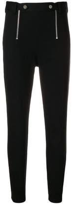 Alexander Wang stretch zipper trim slim trousers