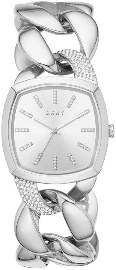 DKNYDKNY Women's Chanin Crystal Stainless Steel Chain Bracelet Watch 32mm NY2569