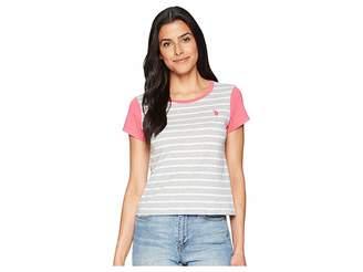 U.S. Polo Assn. Yarn-Dye Color Block Tee Women's T Shirt