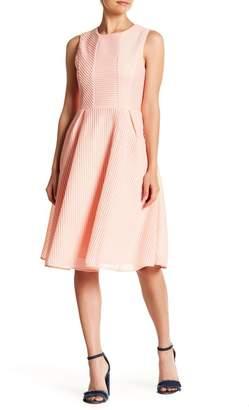 Gracia Ribbed Strip Sleeveless Dress
