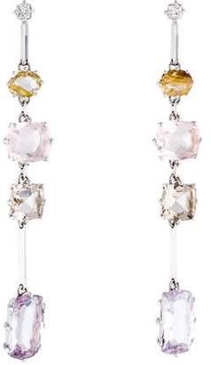 H.Stern 18K Multistone & Diamond Drop Earrings