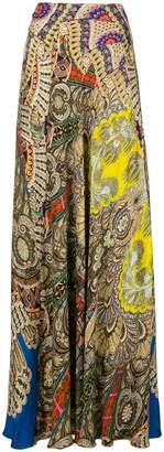 Etro paisley print full skirt
