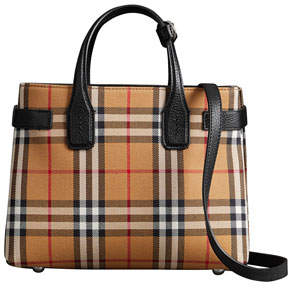 Burberry Banner Small Vintage Check Tote Bag