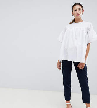 Asos DESIGN Maternity Woven Peg Pants with Obi Tie