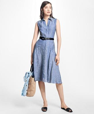 Striped Linen Shirt Dress $228 thestylecure.com