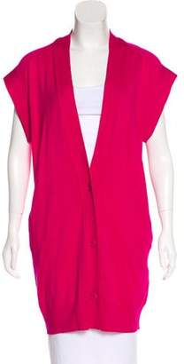 Versace Longline Wool Cardigan