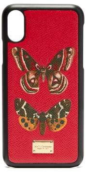 Dolce & Gabbana Butterfly Print Iphone Case - Womens - Red Multi