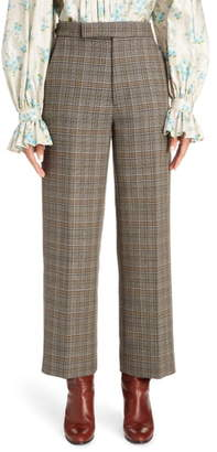 Marc Jacobs Plaid Wool & Silk Straight Leg Pants