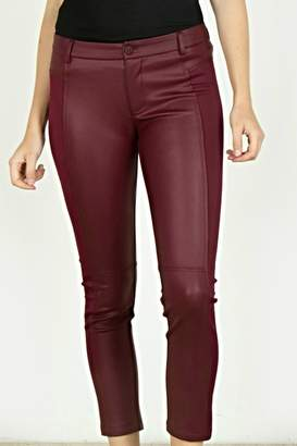 Monoreno Mur Leather Fabric Pants