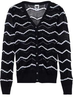 M Missoni Metallic Knitted Cotton-Blend Cardigan