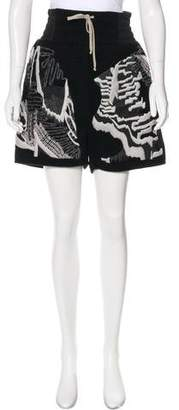 Rick Owens High-Rise Cashmere Shorts w/ Tags