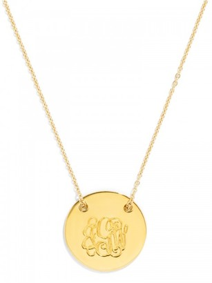 Threaded Medium Disc Monogram Pendant $78 thestylecure.com