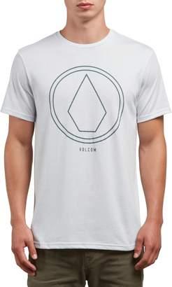 Volcom Men's Pin Line Stone Modern Fit Short Sleeve Shirt