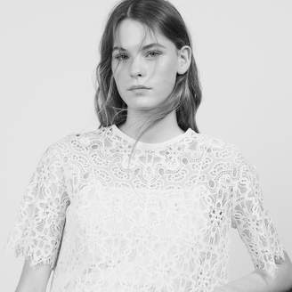 Sandro Matching Lace Cropped Top