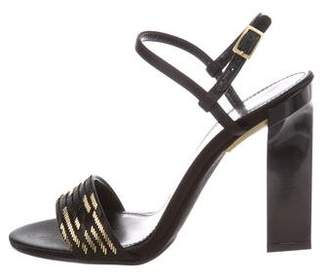 Calvin Klein Collection Leather Open-Toe Sandals