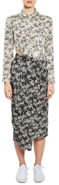 TopshopTOPSHOP Mixed Faces Silk Dress